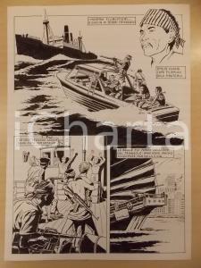 1990 ca FUMETTO Luciano BERNASCONI Moderni pirati filippini *Tavola originale