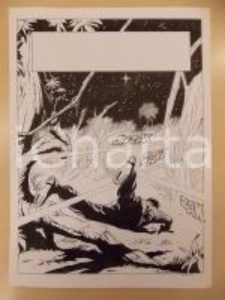 1990 ca FUMETTO Luciano BERNASCONI Raggi laser nella giungla *Tavola originale
