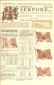 1959 NAPOLI Ditta SERPONE Catalogo ILLUSTRATO Bandiere labari arredi sacri