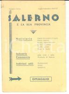 1937 SALERNO e la sua provincia Libretto pubblicitario TURISMO orari treni