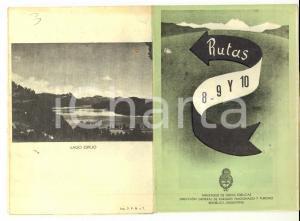 1930 ca ARGENTINA Rutas 8-9-10 Itinerari Pieghevole pubblicitario TURISMO