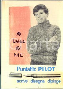 1964 PUNTAFILZ PILOT scrive disegna dipinge *Pannello PUBBLICITA'