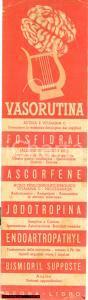 1940 ca Aziende chimiche ANGELINI Segnalibro VASORUTINA
