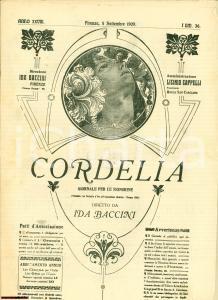 1909 FIRENZE Giornale per signorine CORDELIA n° 36