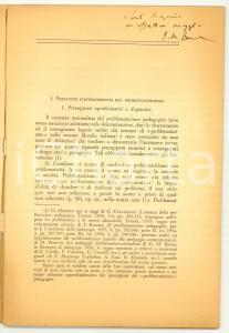 1968 Giovanni BERTIN Problematicimo pedagogico AUTOGR.