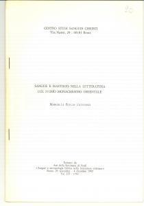 1982 Marcella FORLIN PATRUCCO Sangue e martirio monaci