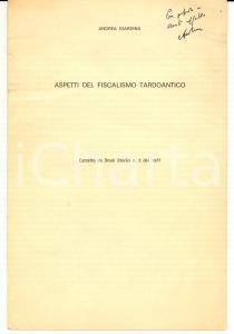 1977 Andrea GIARDINA Aspetti del fiscalismo tardoantico