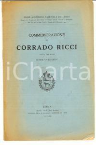 1935 Roberto PARIBENI Commemorazione di Corrado RICCI