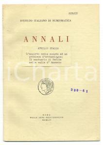 1964 Attilio STAZIO Monete santuario in valle ANSANTO
