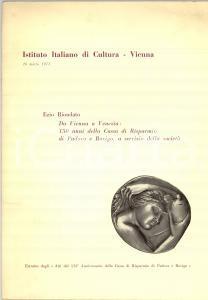 1973 Ezio RIONDATO 150° Cassa Risparmio PADOVA E ROVIGO