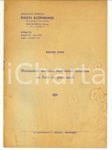 1963 Mariano RAOSS Illuminazione misterica nei Padri