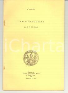 1963 ROMA Pasquale TESTINI Carlo CECCHELLI