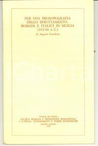 1981 Augusto FRASCHETTI Sfruttamento italici in SICILIA