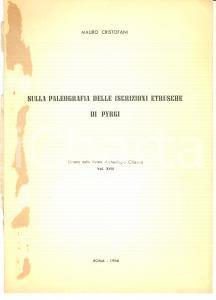 1966 Mauro CRISTOFANI Iscrizioni etrusche di PYRGI
