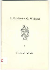 1977 La Fondazione WHITAKER e l'isola di MOZIA