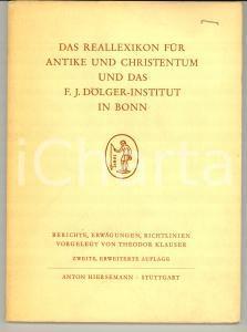 1970 BONN F. J. DOLGER Institut Antike und Christentum