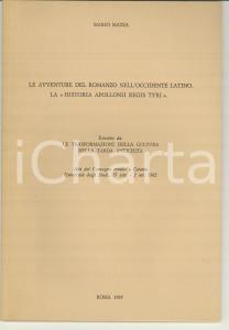 1985 Mario MAZZA Avventure del romanzo nell'occidente