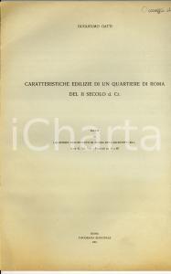 1961 Guglielmo GATTI Edilizia di un quartiere di ROMA
