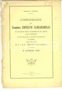1936 Roberto PARIBENI In memoria Ernesto SCHIAPARELLI