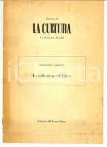 1972 Francesco GABRIELI La tolleranza nell'Islam