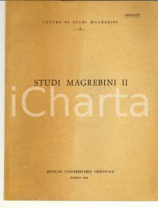 1968 Giovanni GARBINI Note libiche Studi MAGREBINI II