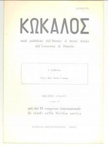 1976 Salvatore CALDERONE Storia della SICILIA romana