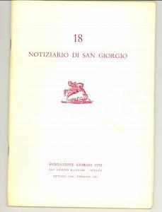 1961 VENEZIA Notiziario FONDAZIONE GIORGIO CINI n° 18