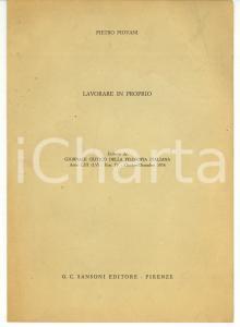 1974 FIRENZE Pietro PIOVANI Lavorare in proprio