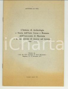 1980 Antonino DI VITA Archeologia all'Univ. di MACERATA