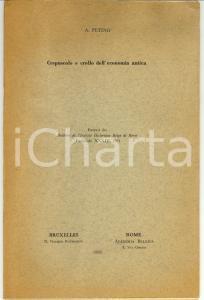 1961 Antonio PETINO Crepuscolo e crollo economia antica