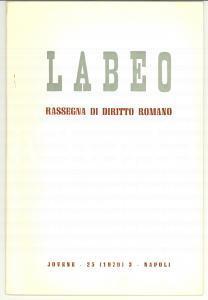 1977 NAPOLI Lucia FANIZZA Parricidio nella Lex Pompeia