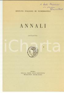 1971 Domenico MUSTI Frammento Eraclito: merci o monete?