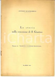 1960 Antonio QUACQUARELLI La storia nella concezione di San Giustino