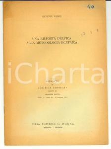 1964 Giuseppe NENCI Una risposta delfica alla metodologia ecataica