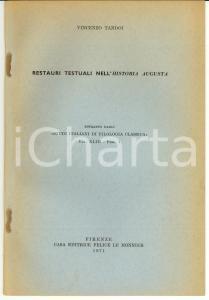 1971 Vincenzo TANDOI Restauri testuali nell'HISTORIA AUGUSTA