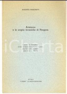 1975-76 Augusto FRANCHETTI Aristarco e le origini tirreniche di Pitagora