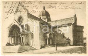 1913 ANCONA Ragazzi in posa sul sagrato del Duomo di SAN CIRIACO Cartolina FP VG