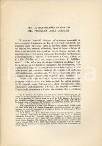 1974 Mario LOMBARDO Storia del problema delle CRESEIDI