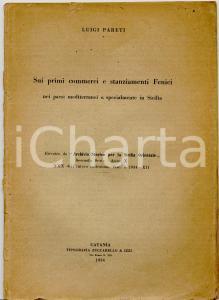 1934 Luigi PARETI Commerci e stanziamenti FENICI