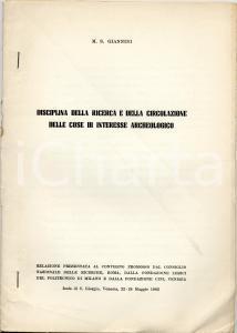 1962 M. S. GIANNINI Ricerca cose interesse archeologico
