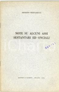 1963 Ernesto BERNAREGGI Assi sestantari ed onciali