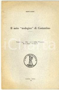 1961 Mario AGNES Il mito teologico di Costantino