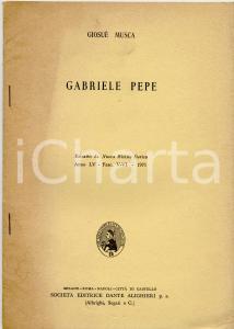 1971 Giosué MOSCA Ricordo di Gabriele PEPE