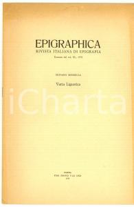 1979 Giovanni MENNELLA Un'epigrafe da Cassano SPINOLA