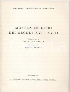 1964 BENEVENTO Mostra libri biblioteca secoli XVI-XVIII