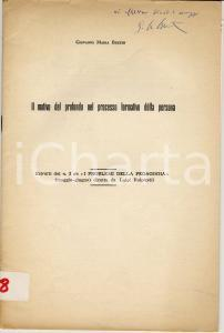 1960 Giovanni BERTIN Formazione della persona AUTOGR.