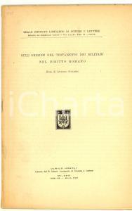 1939 Antonio GUARINO Testamento militari nel diritto