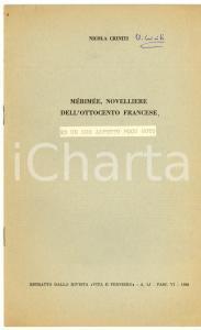 1968 Nicola CRINITI MERIMEE ed un suo aspetto poco noto