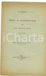 1910 Roberto PARIBENI Testa di Olympionikes Museo ROMA