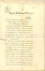 1870 VIGADORE LO F.lli BOCCADORO per servitù passaggio